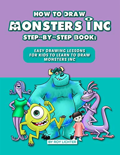 How to Draw Monsters Inc Step-by-Step Book: Easy -