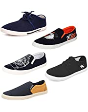 Chevit Men's Smart Combo Pack of 5 Casual Shoes