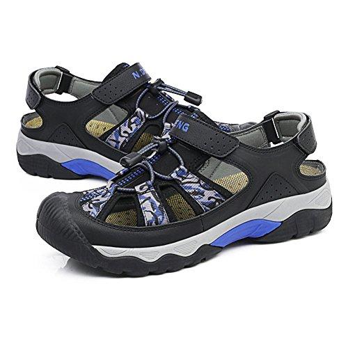 Sandal d'eau Hommes Sport Outdoor Vert Suspendue Fermette à pied fermé Chaussures à pied Beach by GOMNEAR Noir