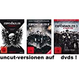 The Expendables 1-3 Extended, uncut, dvd Film Set, deutsch