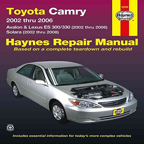 toyota-camry-avalon-lexus-es300-330-solara-2002-2008-by-author-jay-storer-published-on-june-2013