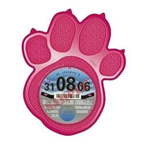 Tax Disc Holder Skin LARGE PINK PAW PRINT Cat Dog - Free Postage