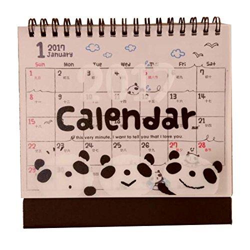 2016 Cartoon-Tier Desktop-Kalender Bilingual-Kalender [Cute Panda] (Desktop-kalender 2015)