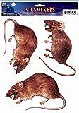 Forum Novelties 3D Rat Stickers pour fenêtre, Marron...