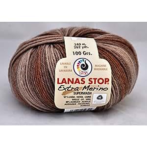Lanas Stop - EXTRA MERINO PRINTED - Lanas - Stop - Marron 240