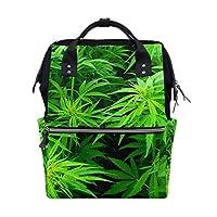 Marijuana Leaves Travel Backpack Diaper Bag School Casual Daypack for Women Teens