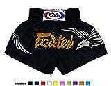 Pantalones cortos Fairtex, para Muay Thai, de satén--, color BS0657, tamaño Medium