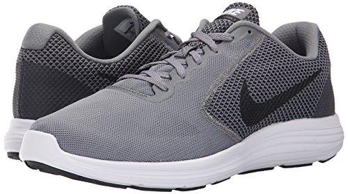 Nike Men's Revolution 3 Running Shoes, Blue, UK, Grey (Cool Grey/Black-White), 8.5 UK