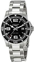 Longines  L36404566 – Reloj de cuarzo para hombre, con correa de acero inoxidable, color plateado