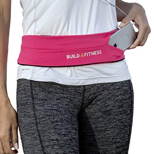 Cinturón de correr y aptitud cinturón, funda cinturón con clip para llaves, adapta tu iPhone 6,7,8 plus, X. Unisexo. 5 colores, para Gimnasio Entrenamiento, ejercicio, Ciclismo, Caminar, Correr, Yoga