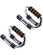 GOCART WITH G LOGO Push-up Bars - Strong Chrome Steel Pushup