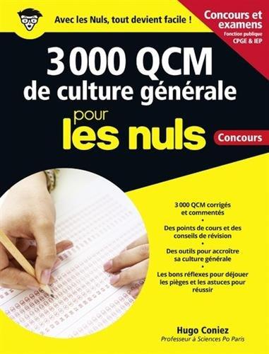 3 000 QCM de Culture générale pour les Nuls Concours Fonction publique grand format, 2e édition
