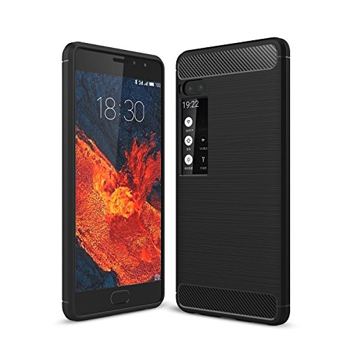 MeiZu Pro 7 Hülle - Ultra Slim Silikon Rückseite Schutzhülle Case für MeiZu Pro 7 Schwarz