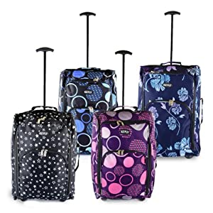 Shop Monk Lightweight Wheeled Holdall Hand Luggage Suitcase Trolley Travel Cabin Bag