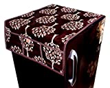 #9: Kanushi Industries Floral (Tree) Design Fridge Top Cover with 6 Utility Pockets (Brown Color)