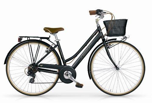 MBM BOULEVARD WOMAN BICYCLE 28 H46 18S TREKKING CITY BIKE BICICLETA CIUDAD MUJER NEGRO