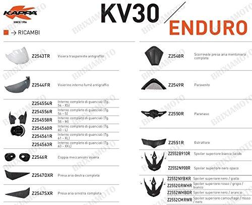 Kappa RICAMBIO Z2552WHBOR - SPOILER SUPERIORE CASCO KV30