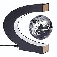 Specifiche tecniche: Colore nero Potenza di commutazione: AC 12V 1000mA Input: CA 100-240V ~ 50 / 60Hz Uscita: 12V-1A Luci: 8 LED (luce bianca) Diametro Globe: 8.5cm / 3.34inLista del pacchetto: 1 * Mappa del mondo globo magnetico 1 * Base ma...