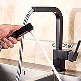SUGU Küchenarmatur Mit Brause Ausziehbar Wasserhahn Küche Schwarz Mischbatterien Für Küche Hochdruck Küche Armatur Schwarz Einhandmischer Küchenarmatur