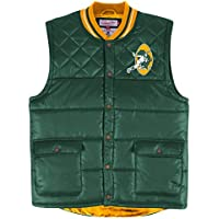 """Green Bay Packers Mitchell & Ness NFL """"Snap"""" Throwback Vest Jacket"""
