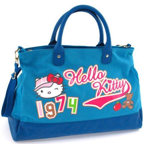 Grand sac à main Hello Kitty High Street bleu by Camomilla