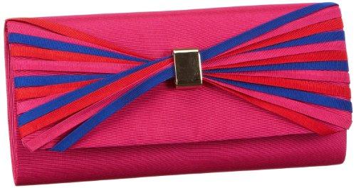 Victoria Delef EVENING BAG - Bolso de mano de material sintético mujer, color rosa, talla 26x12x5 cm (B x H x T)