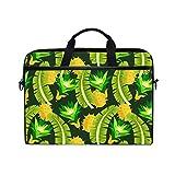 Ahomy Ahomy Laptoptasche mit Schulterriemen und tropischem Bananenblatt, multifunktionaler Stoff, wasserdicht, Laptoptasche