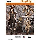 Simplicidad Tallas Steampunk Disfraces patrón de Costura, Papel