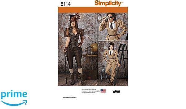 Simplicity Schnittmuster Steampunk Kostüme Schnittmuster, Papier ...
