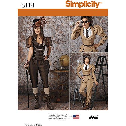 Simplicity Schnittmuster Steampunk Kostüme Schnittmuster, (Spanische Krieger Kostüm)