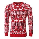 9b9366e6364fb8 Huixin Maglione Di Natale Della Camicia Di Natale Autunno Inverno Pullover  Del Manicotto Lungo Costume Felpa