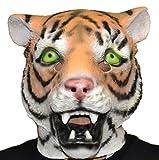 Queenshiny máscara de látex animales (Tigre)