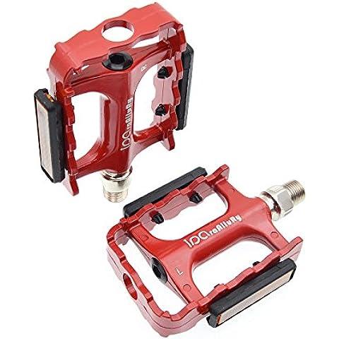 iParaAiluRy SeatSail para bicicleta MTB Pedales Plataforma de aleación de aluminio CNC Eje de acero de 9/16