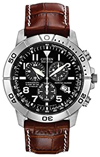 Citizen Eco-Drive Men's Watch with Brown Dial Chronograph Display and Brown Leather Strap BL5250-02L (B000EQS0WK) | Amazon price tracker / tracking, Amazon price history charts, Amazon price watches, Amazon price drop alerts