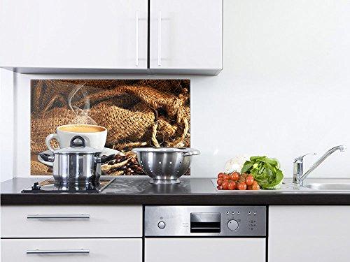 GRAZDesign 200031_80x50_SP Küchenrückwand für Herd | Spritzschutz aus Echtglas | Bild-Motiv Tasse...