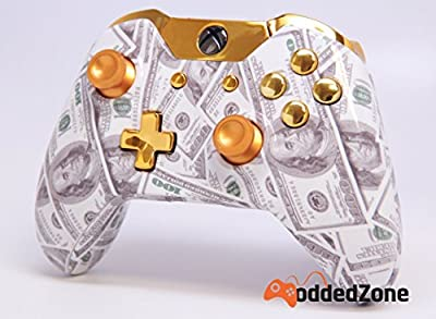 """Gold Money"" Xbox One Custom UN-MODDED Controller Exclusive Design"