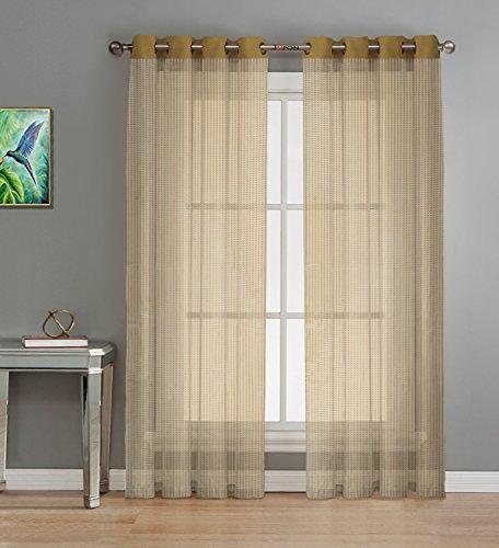check MRP of sheer curtains gold JUPON