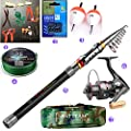 BNTTEAM 99% Carbon Telescopic Fishing Rod Retractable Ultra Light Rod Carbon 2.1M 2.4M 3.0M Travel Fishing Rod Spinning Fishing Pole by BNTTEAM