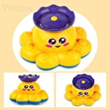 autumn-wind Bath Toy,Spray Water Octopus Toy Water Pump Electronic Sprayer Bathroom Toys For Baby Toddler Infant Kid Party (yellow)