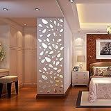 Kingko® 12st DIY Abnehmbarer 3D-Spiegel-Acrylwand -Aufkleber-Abziehbild-Hauptdekor -Kunst (Silber)