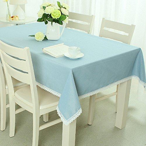 Imperméable nappe Nappe en treillis en tissu massif Nappe pastorale Tissu en tissu Tissu en marbre en dentelle (4 couleurs en option) (taille facultative) pour dîner ( Couleur : D , taille : 140*200CM )