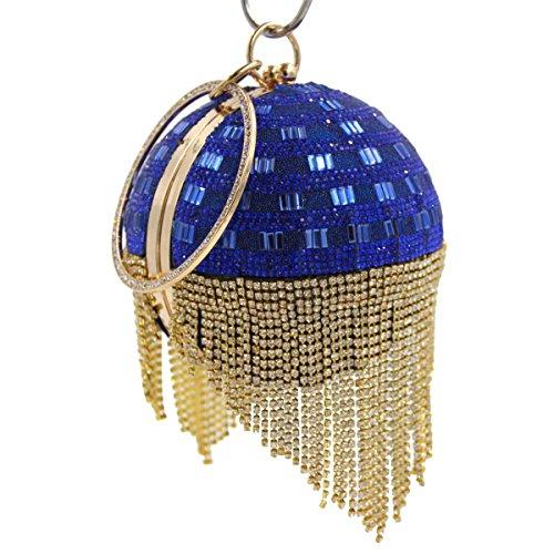 Bag Diamante Sera Di Lusso Di Diamanti Banchetto Di Alta Qualità Delle Donne Blue