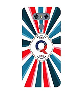 YuBingo Designer Printed Plastic Mobile Back Case Cover Panel for LG G6 ( Quality Letter Q (Colourful, Stylish and Cool) )