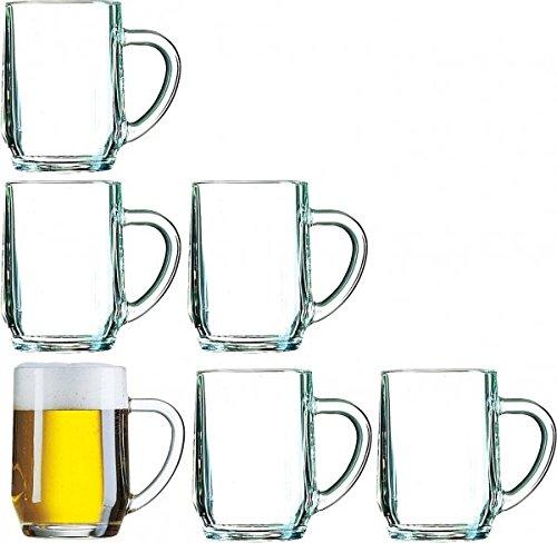 6 Bierseidel Haworth in versch. Größen Größe 28cl