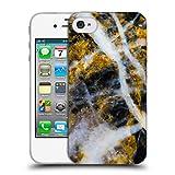 Head Case Designs Offizielle PLdesign Gold Weiss Felsen Gewebe Und Funkel Soft Gel Hülle für iPhone 4 / iPhone 4S