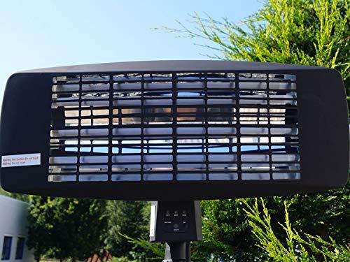 Traedgard® Infrarot Stand Heizstrahler Morsum 2000 Watt mit Fernbedienung und Standfuß, 64548 - 4
