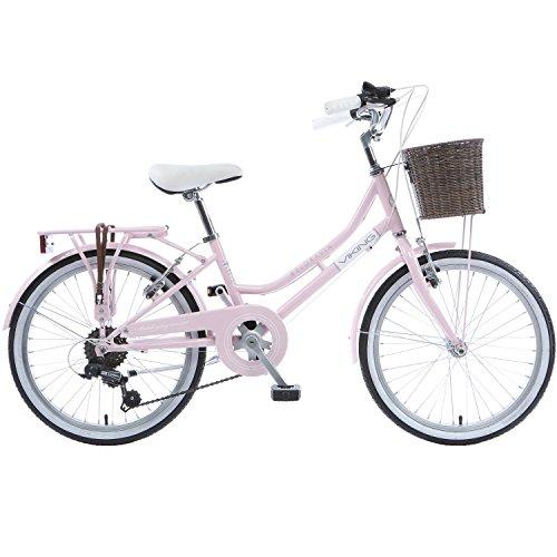 Galano 20 Zoll Belgravia Mädchen Jugendfahrrad ab 6 Jahren Fahrrad Citybike, Farbe:Viking pink