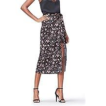 FIND Falda con Estampado de Flores para Mujer
