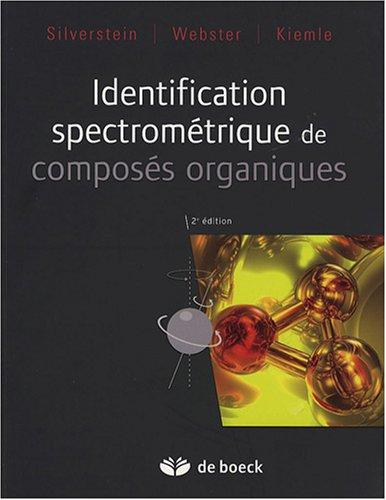 Identification spectromtrique de composs organiques