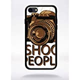 Générique Coque i Shoot People Compatible Apple iphone 7 Bord Noir